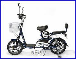 SOHOO 48V500W12Ah Electric Bicycle City E-Bike Lithium Battery E-Scooter(Blue)
