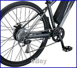 Schwinn Mens 700C Sycamore 350 Watt 7-Speed Small Aluminum Cruiser E-Bike-Grey