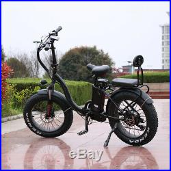 Smilo 1000with48v Two Seater Fat Tire Folding Electric Bicycle Ebike Scooter NEW