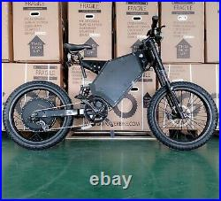 Stealth Bomber Electric Mountain EBike 72V 8000W full suspension best 2021 60MPH