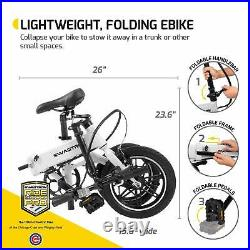 SwagCycle E-Bike EB-5 Folding & Lightweight with Lithium Ion Battery Pedals 250W