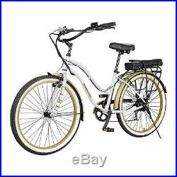 Swagtron EB10 Electric Cruiser Bike Full-Sized 26-Inch eBike withRemovable Battery