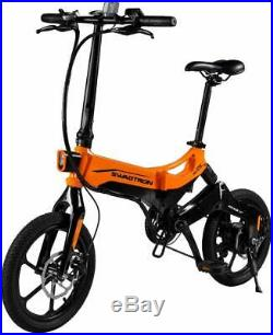 Swagtron EB7 Plus Folding Electric Bike with Removable Battery Pedal-Assist eBike