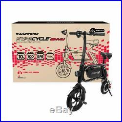 Swagtron Folding Electric Bicycle E Bike 200W 10 MPH SWAGCYCLE Envy Steel Frame