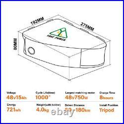 Triangle Ebike Battery 48V 1000W Lithium Ion Electric Bike Battery 48V 15Ah