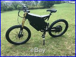 Troya 5000with72v Electric Bicycle Scooter Ebike Black Mountain Bike 80km/h FAST