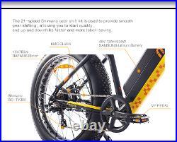 US 26 Fat Tire Electric Bicycle 750W 48V e-Bike Mountain Beach City eBike