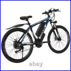 Upgraded 26 Electric Bike Mountain Bicycle EBike SHIMANO 21Speed 36V Li-Battery